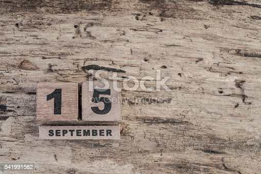 istock cube calendar for september on wooden background with copy space 541991582