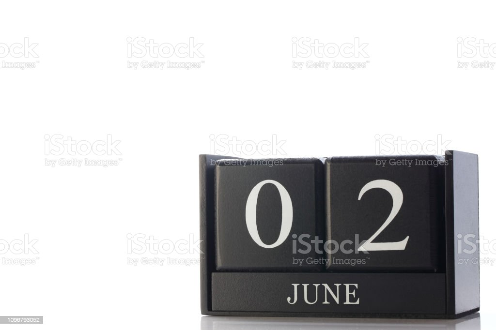 cube calendar stock photo