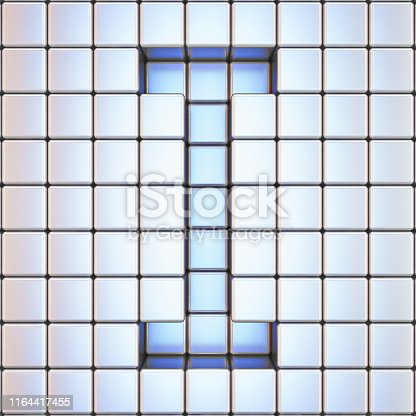 583978326 istock photo Cube grid Letter I 3D 1164417455
