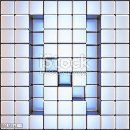583978454istockphoto Cube grid Letter N 3D 1164417450