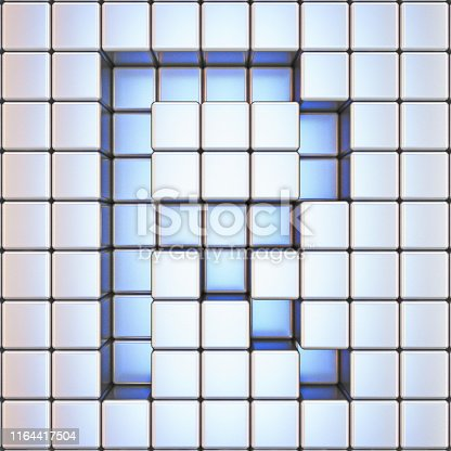 583978558istockphoto Cube grid Letter R 3D 1164417504