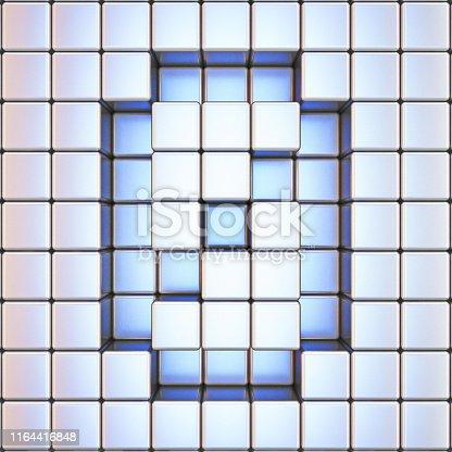 845307368 istock photo Cube grid Number 0 ZERO 3D 1164416848