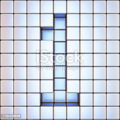 583977832 istock photo Cube grid Number 1 ONE 3D 1164416838