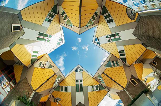 case cubiche di rotterdam - rotterdam foto e immagini stock