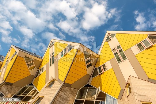istock Cube houses in Rotterdam, South Holland, Netherlands. 847387554