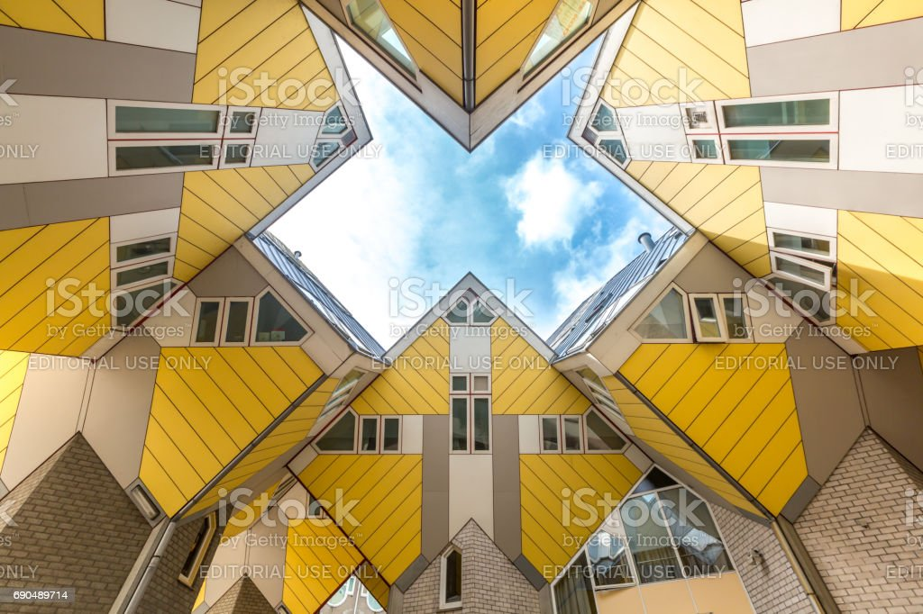 Cube houses Rotterdam Netherlands stock photo