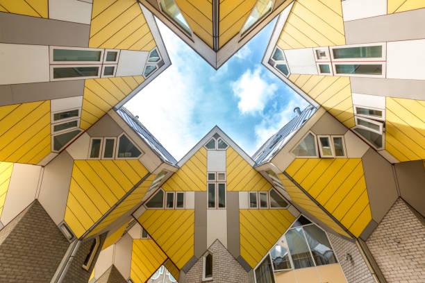 Cube houses Rotterdam Netherlands stock photo