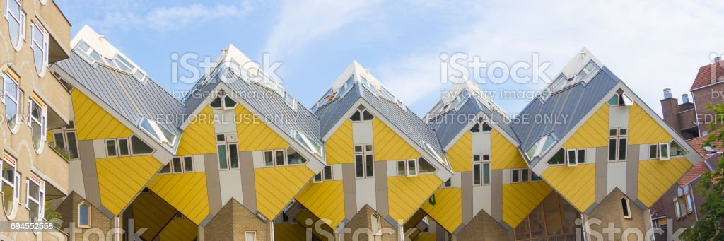 Cube houses, Rotterdam, Netherlands. stock photo