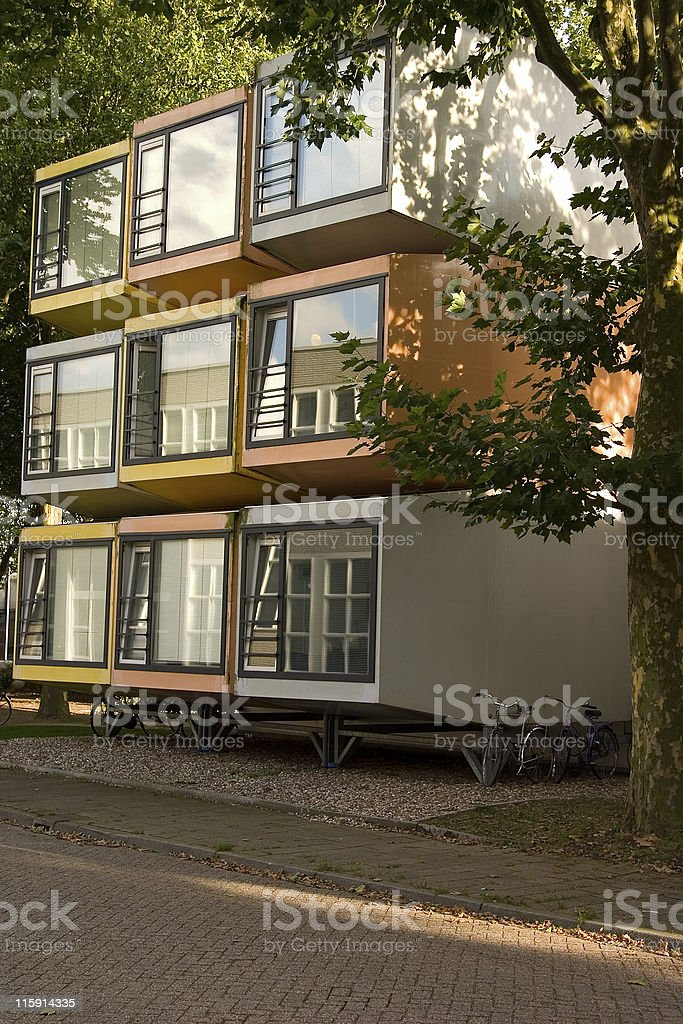 cube housing royalty-free stock photo