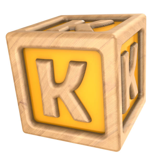 cube k 3d illustration of toy cube with sign 'k' on it k icon stock pictures, royalty-free photos & images