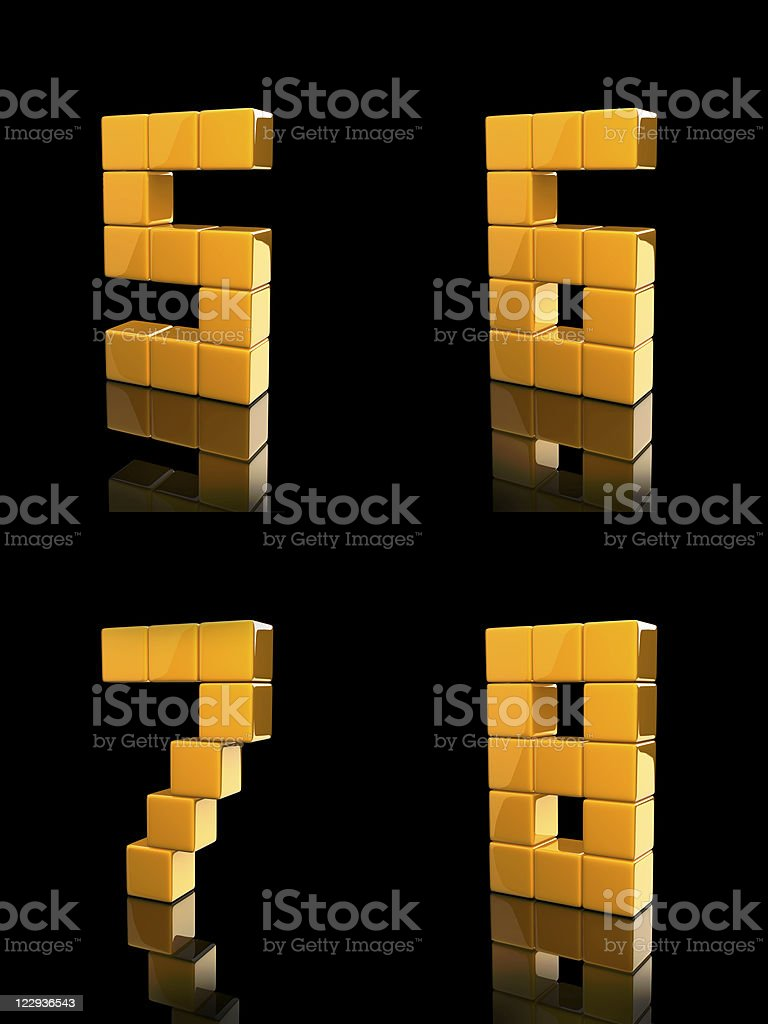 cube number stock photo