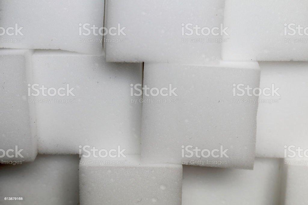 Cube of sponge stock photo