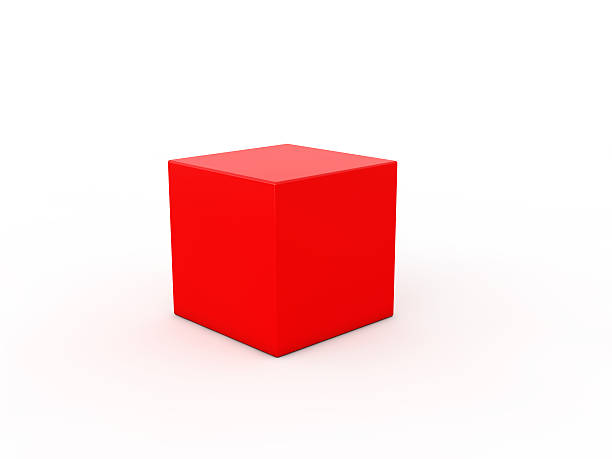 cube on white background. 3d illustration - küp şekil stok fotoğraflar ve resimler