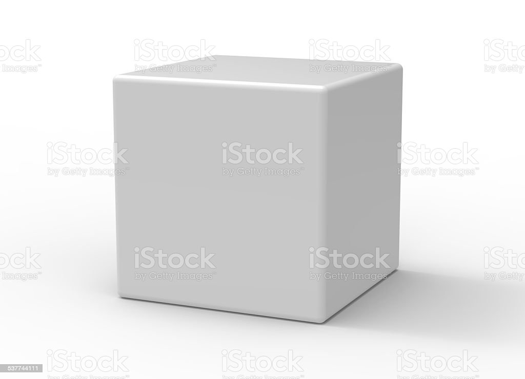 Cube on white background stock photo