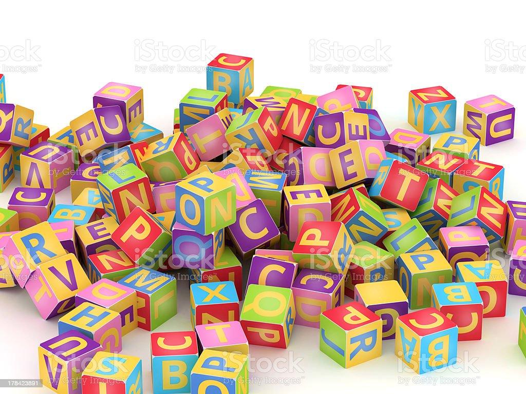 ABC cube pile royalty-free stock photo
