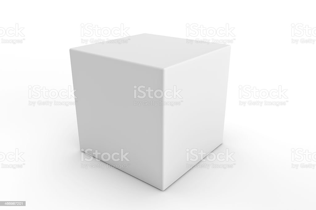 cube square white blank packaging design stock photo