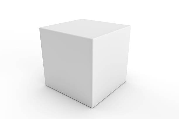 cube square white blank packaging design - cube shape stock pictures, royalty-free photos & images