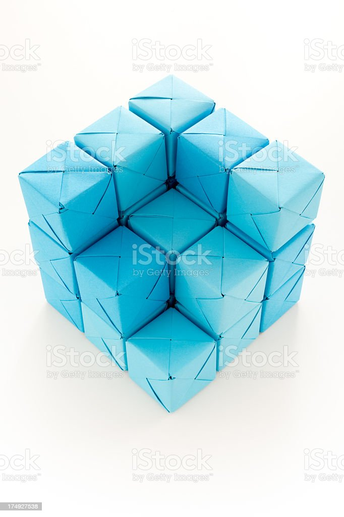 Cube structure royalty-free stock photo