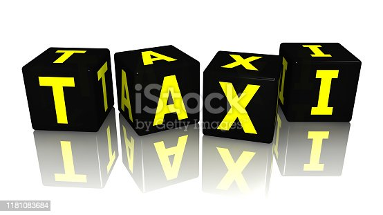 istock cube taxi 3d rendering 1181083684