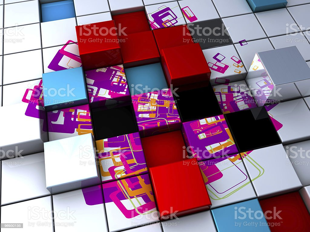 cube trendy background royalty-free stock photo