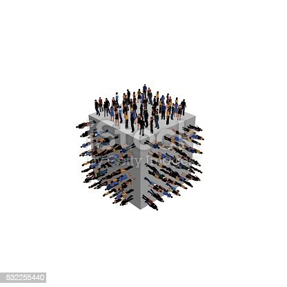 istock Cube with people 532255440
