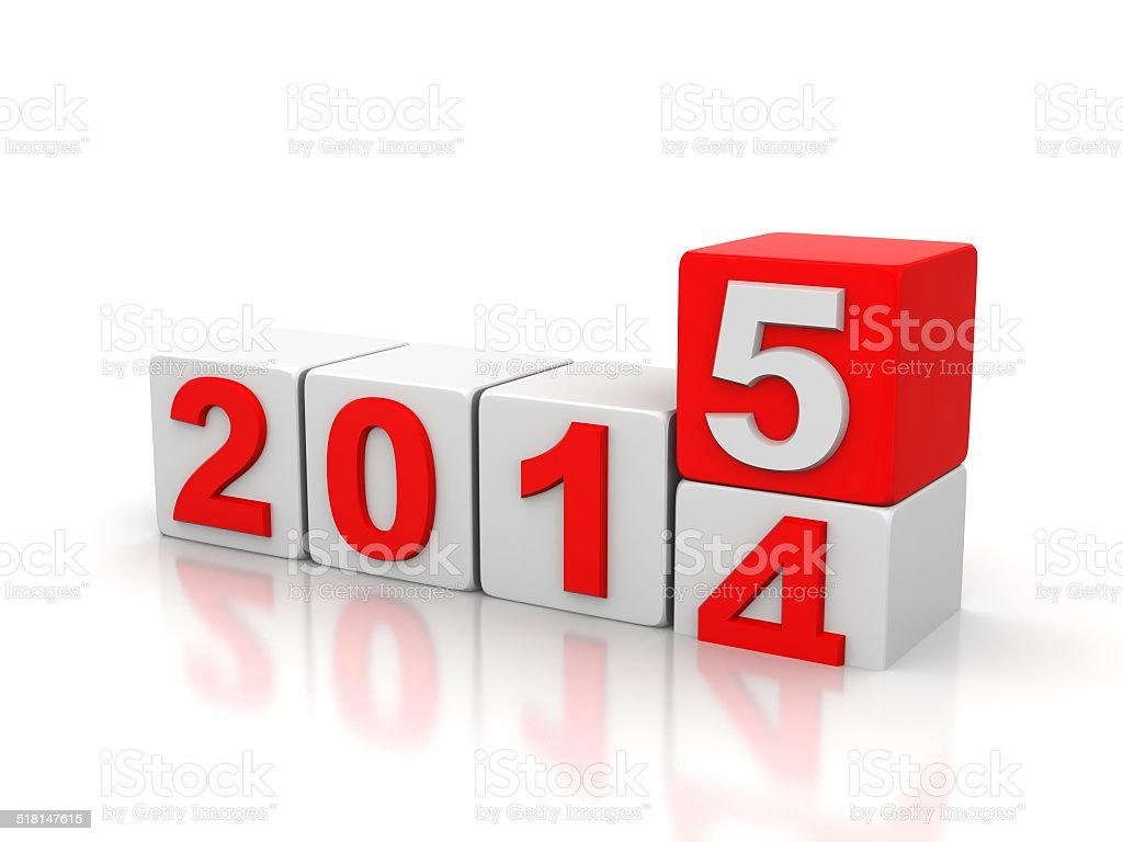 cube words for 2015 stock photo