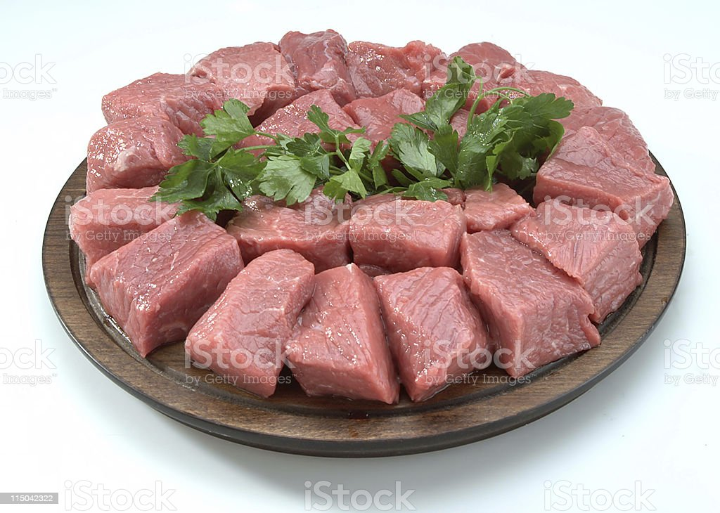 Cubed Beef royalty-free stock photo