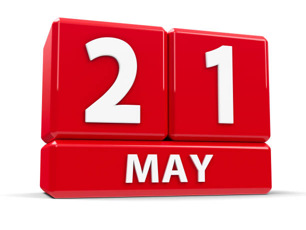 cubes 21st may - number 21 stock photos and pictures