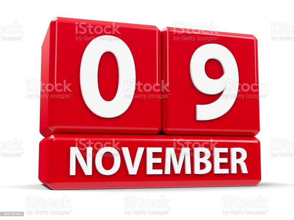 Cubes 9th November stock photo