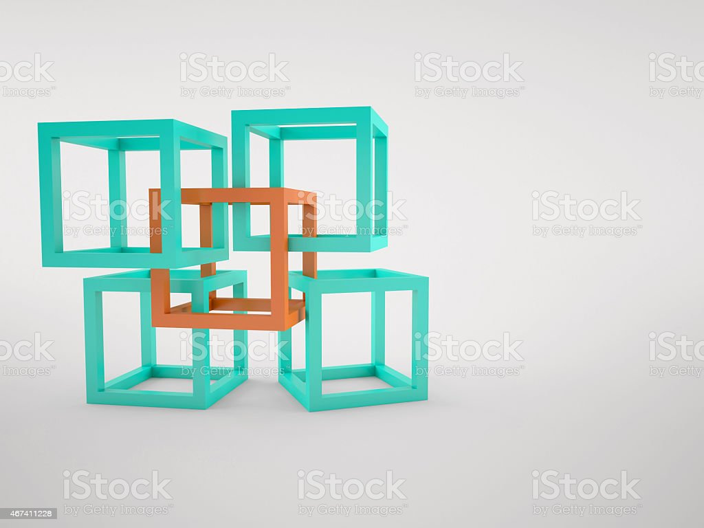 Cubes abstract composition stock photo