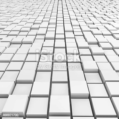 istock Cubes Background - 3d rendered illustration 466921700