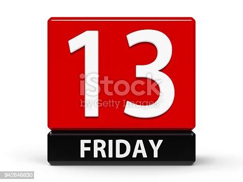 istock Cubes calendar 13th Friday 942646630