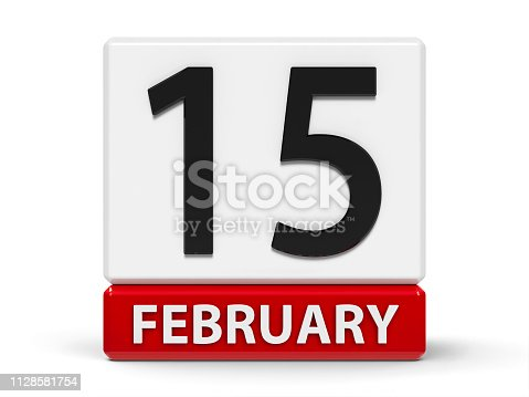 istock Cubes calendar 15th February 1128581754