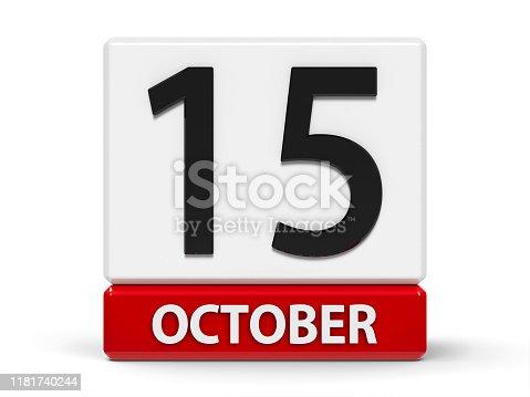 istock Cubes calendar 15th October 1181740244