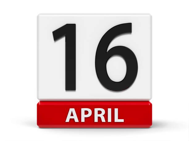 cubes kalender 16. april - wetter dienstag stock-fotos und bilder