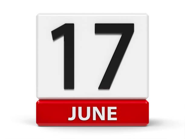 cubes kalender 17. juni - wetter dienstag stock-fotos und bilder