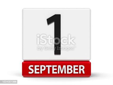 istock Cubes calendar 1st September 1024001066