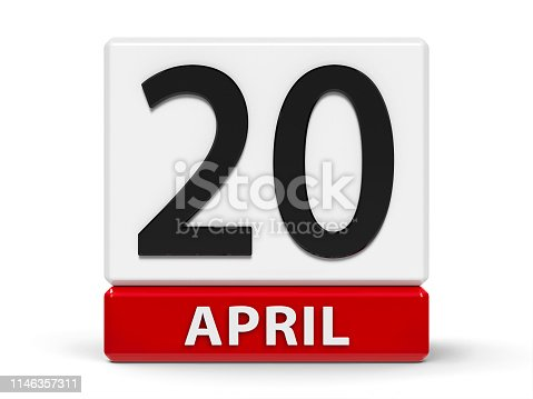 istock Cubes calendar 20th April 1146357311
