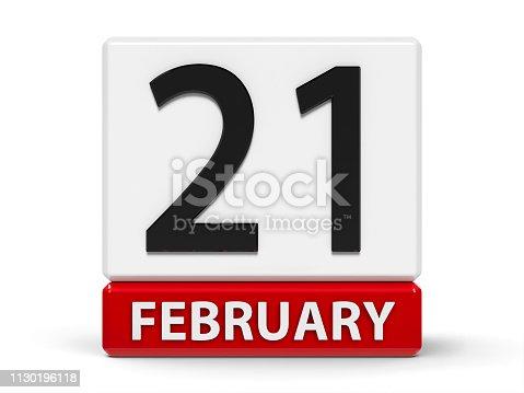 istock Cubes calendar 21st February 1130196118