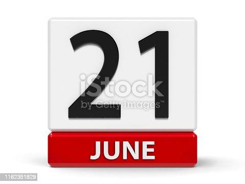 istock Cubes calendar 21st June 1162351829
