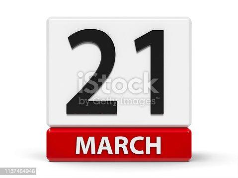 istock Cubes calendar 21st March 1137464946