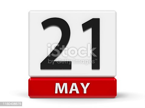 istock Cubes calendar 21st May 1150408575