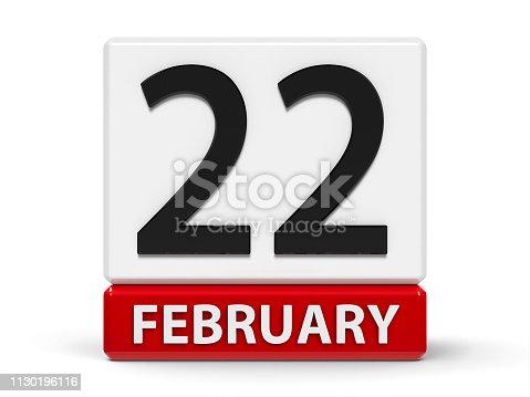 istock Cubes calendar 22nd February 1130196116