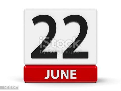 istock Cubes calendar 22nd June 1162351017