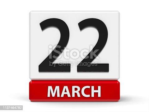istock Cubes calendar 22nd March 1137464782