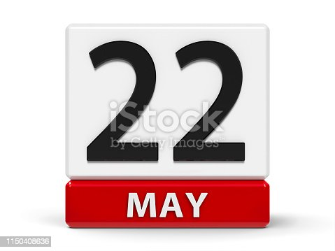 istock Cubes calendar 22nd May 1150408636