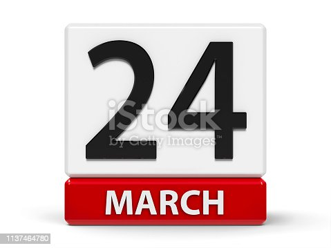 istock Cubes calendar 24th March 1137464780