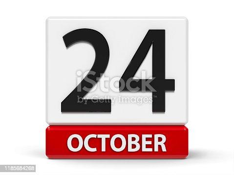 istock Cubes calendar 24th October 1185684268