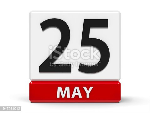 897726350 istock photo Cubes calendar 25th May 947261012