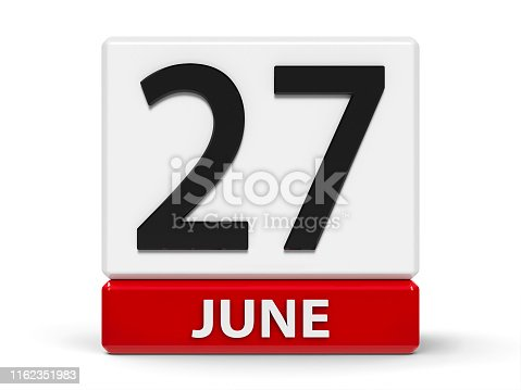 istock Cubes calendar 27th June 1162351983